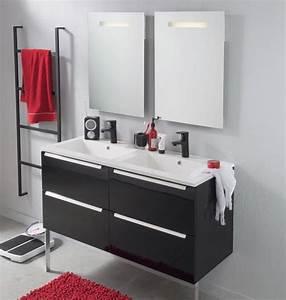 Meuble noir et blanc excellent meuble salle de bain noir for Chambre bébé design avec elixir floral deva