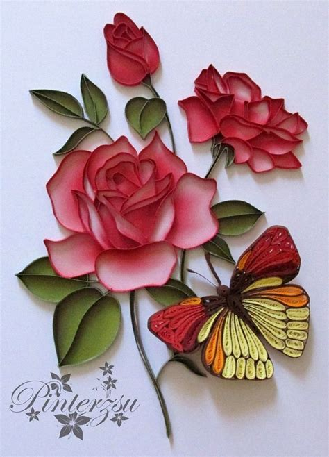 ideas  quilled roses  pinterest paper