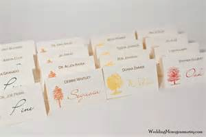 wedding place cards cards wedding monograms by bellus designs