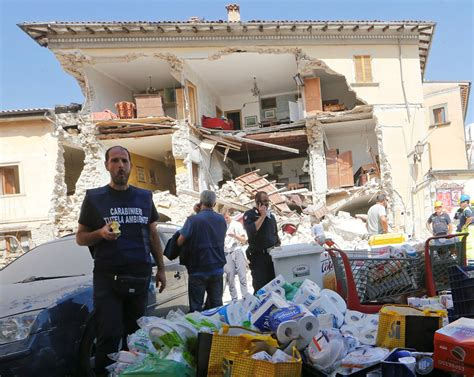 Italy Earthquake Before and After