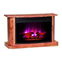 Led Electric Fireplaces by Shop Topeka Innovative Concepts 35 5 In W 5200 Btu Cedar