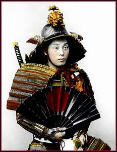PORTRAIT OF A SAMURAI WARRIOR and His WAR FAN -- Another ...