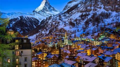 Zermatt Valley Switzerland Hd Wallpaper Wallpaperfx