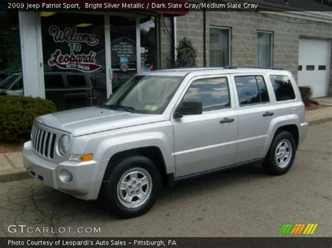 silver jeep patriot interior bright silver metallic 2009 jeep patriot sport dark
