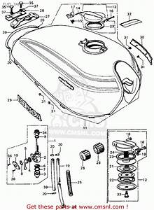 Honda Cl450 Scrambler 1971 K4 Usa Fuel Tank