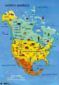 North America Natural Resources Map