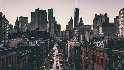 York Street Cityscape Manhattan Building Desktop Wallpapers