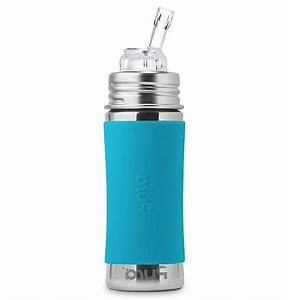 Pura Kiki Stainless Steel Straw Bottle With Silicone