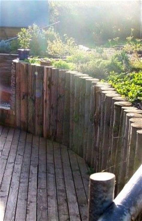cedar retaining wall retaining walls logs and galleries on pinterest