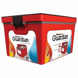 sentry safe gb20l guardian fireproof and water safe With fireproof container for documents