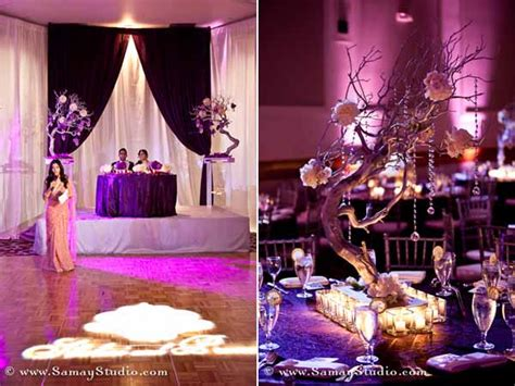 Purple Themed Reception By Ambiance By Tejel