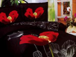 floral bedroom decorating theme poppy bedding