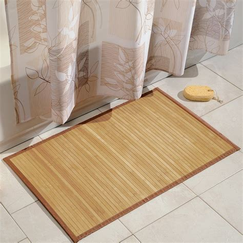 bamboo kitchen floor mat choose bamboo bath mat comfortable the homy design 4304