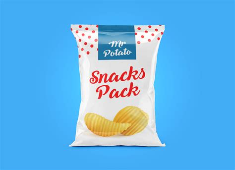 You can create a free account now. Free Potato Chips Snack Pack Packaging Mockup PSD - Good ...