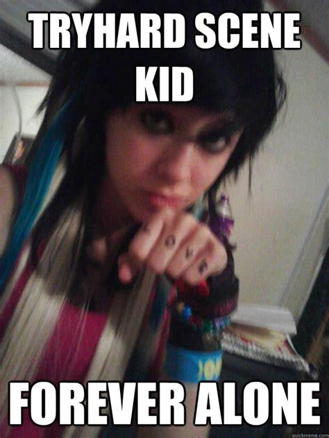 Scene Kid Memes - tryhard scene kid forever alone desireelolol quickmeme