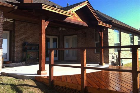 backyard deck patio cover in frisco hundt patio