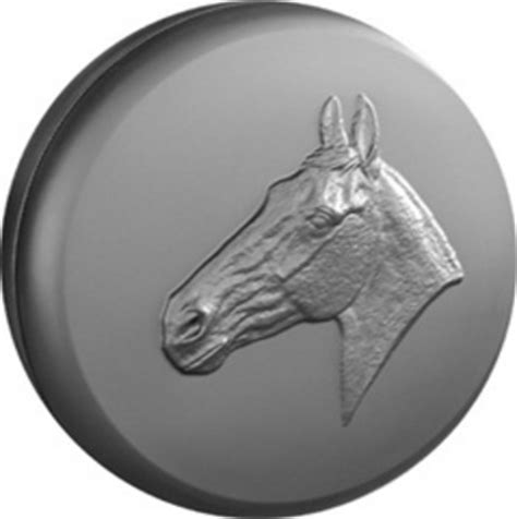 horse head moulded  wheel cover horse head design