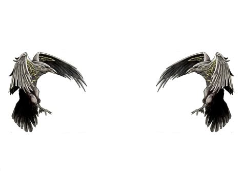 amazing norse raven tattoo designs