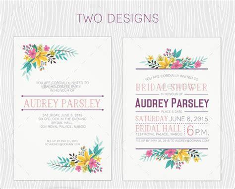 elegant bachelorette party invitation designs psd