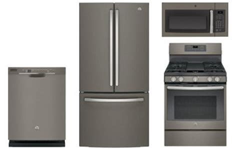 GE Slate French Door Refrigerator with Gas Convection