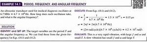 Amplitude  Period  Frequency  And Angular Frequency