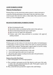 audit working papers With audit workpaper template