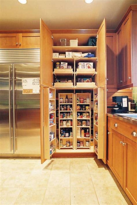 Kitchen Pantry Cabinet by Wood Corner Pantry Cabinet Feat Silver Refrigerator