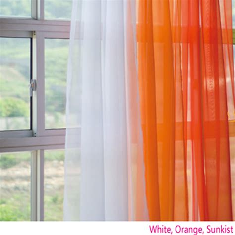jcpenney orange sheer curtains voile silk sheer curtains