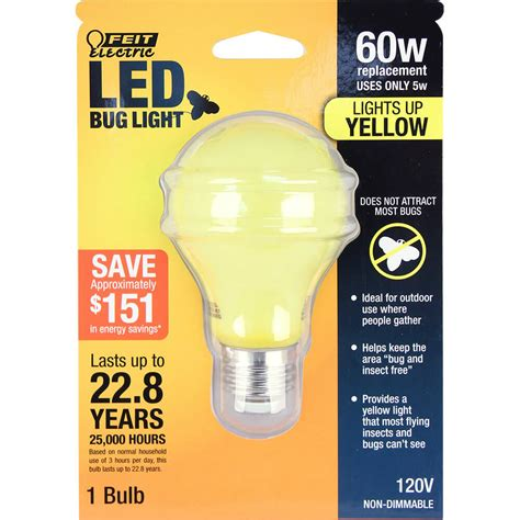 non dimmable a19 led bug light feit electric