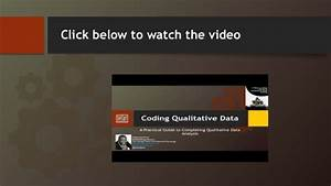 Coding Qualitative Data  A Practical Guide To Completing