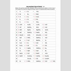 Balancing Equations By Greenapl  Teaching Resources