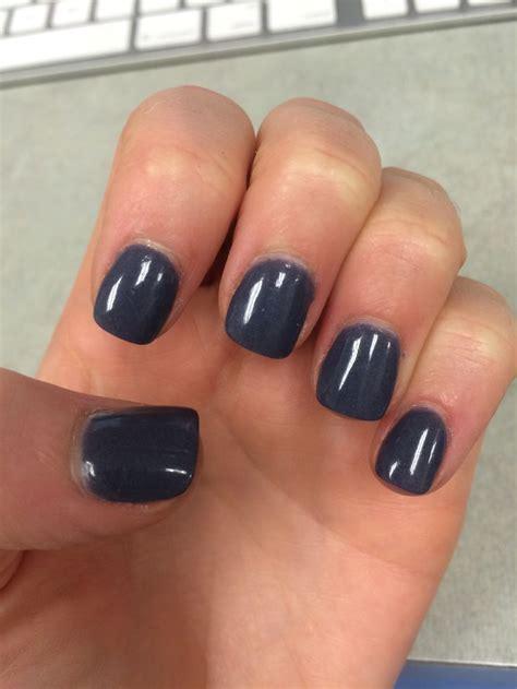 dark  stormy blue purple gray nexgen manicure nails