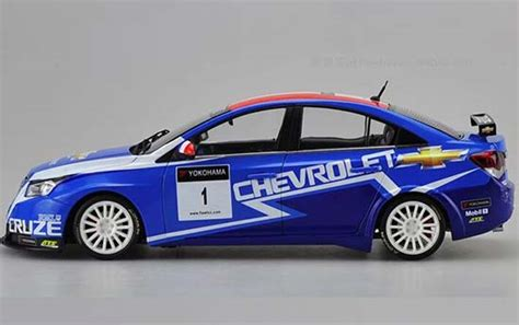 blue  scale  wtcc diecast chevrolet cruze model