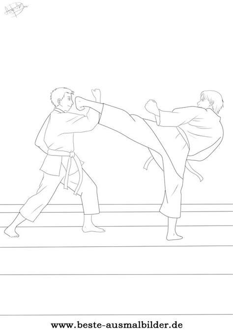karate ausmalbild ausmalbilder von karate und sportarten