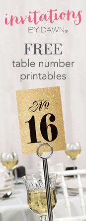 printable wedding table numbers choose  tons