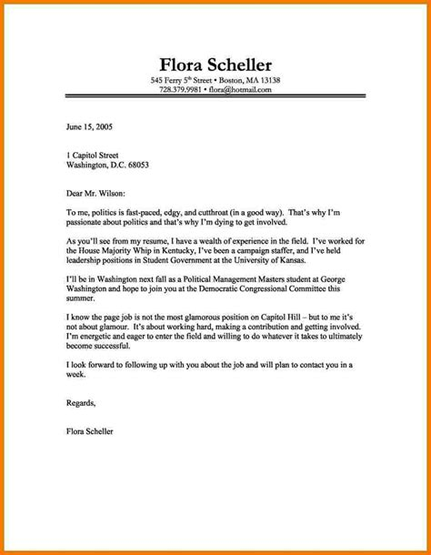 Cover Letter For Employment Exles by 8 Cover Letter Template Assistant Cover Letter