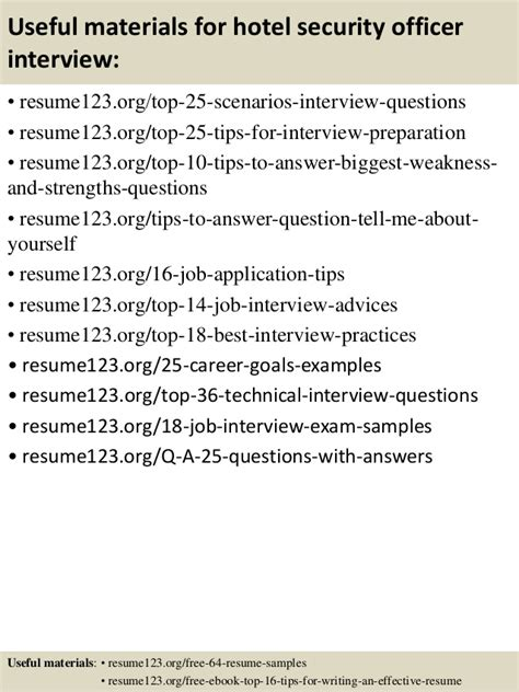 Hotel Security Officer Resume by Top 8 Hotel Security Officer Resume Sles