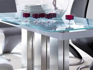 Esszimmer Glastisch Ausziehbar : glass table extendable dining table white various sizes column table mason ~ Frokenaadalensverden.com Haus und Dekorationen
