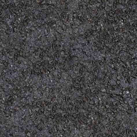 Solid Grey Rug by Dark Asphalt Road With Small Rough Stones Texture Sf
