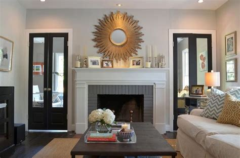 sunburst mirror  fireplace fireplace paint colors