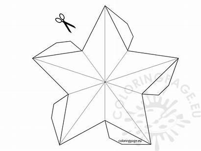 3d Star Template Christmas Coloring Printable Tree