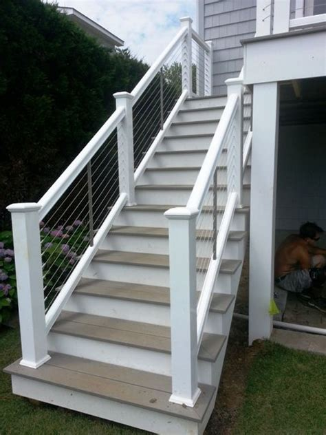 The Steel Cable Railing Good Traditional Modern Mix