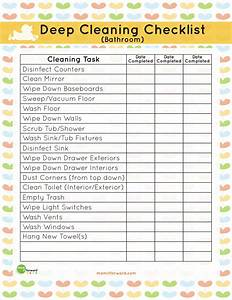 Weekly Chore Chart For Kids Printable Bathroom Deep Cleaning List It Forwardmom