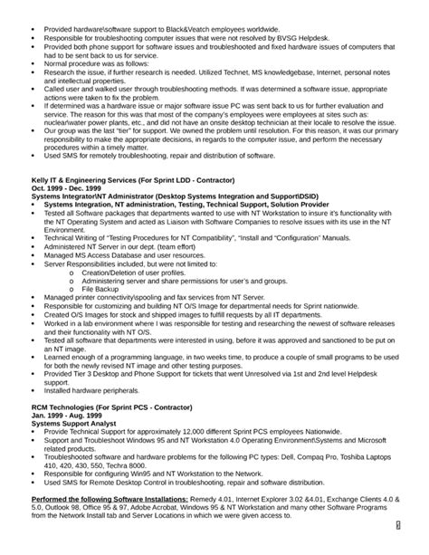 executive help desk analyst resume template page 6