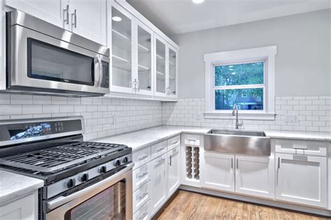 Classic Gray And White Kitchen-craftsman-kitchen