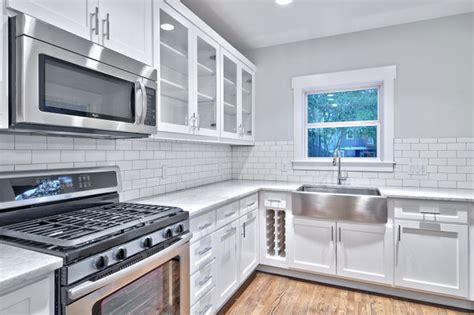 classic gray  white kitchen craftsman kitchen