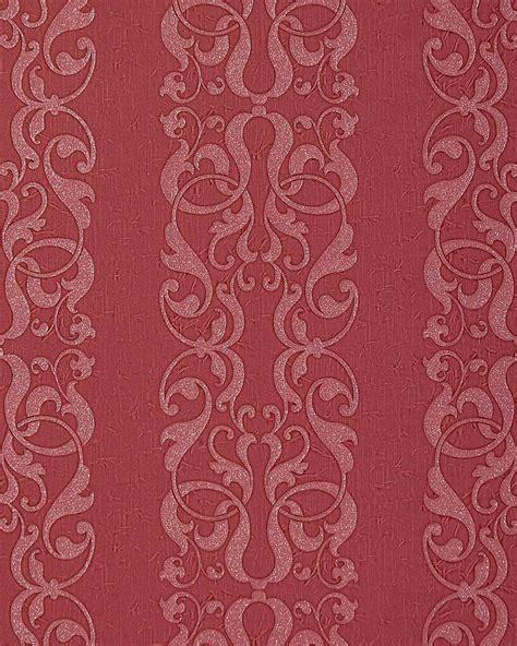 Tapete Rot Muster by Tapete Rot Muster Edem 829 29 Barock Streifen Tapete