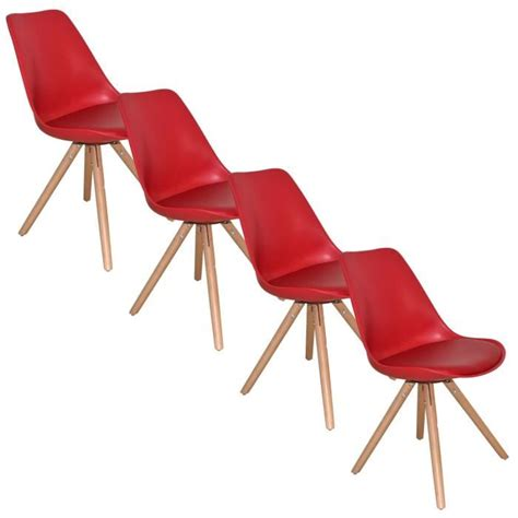 lot de 4 chaise lot de 4 chaises design velta achat vente chaise