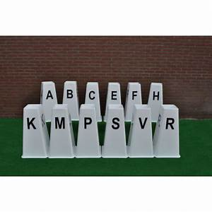 set of 12 dressage letter towers horse show jumps With dressage letters set of 12