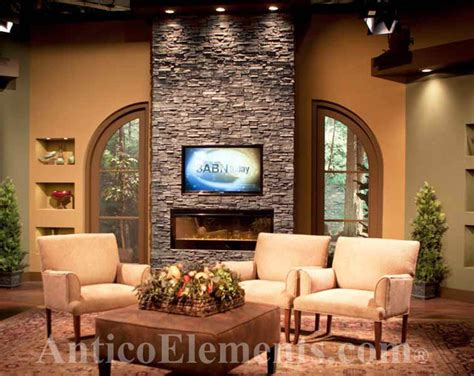 faux stone tv show contemporary living room st louis